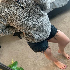 Nevada black denim high waisted cutoff shorts 32